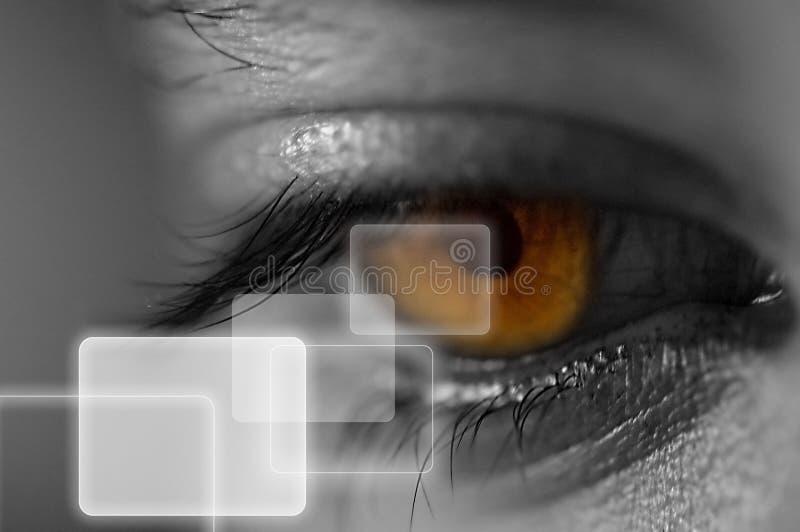 Ojo de la tecnología imagen de archivo