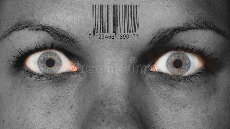 Ojo de las mujeres, primer foto de archivo