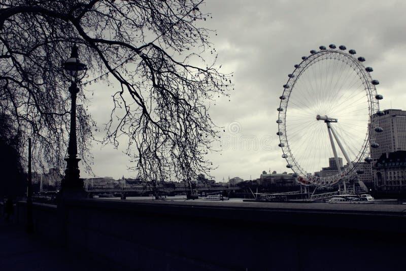 Ojo de Londres blanco y negro fotografía de archivo