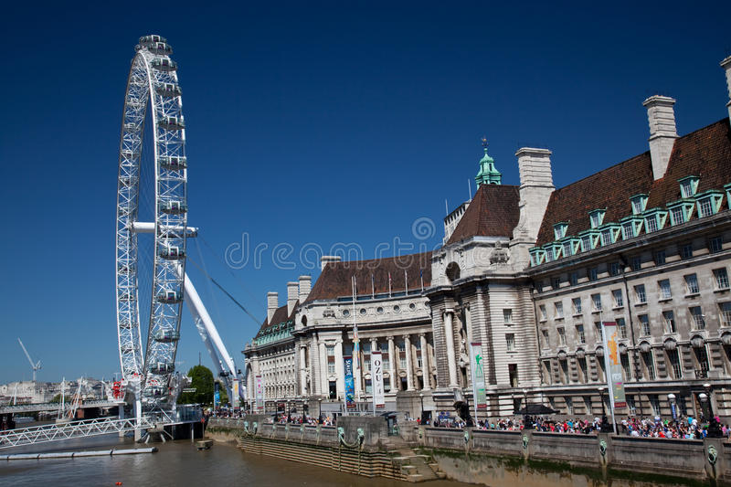 Ojo de Londres fuera del condado pasillo fotos de archivo libres de regalías