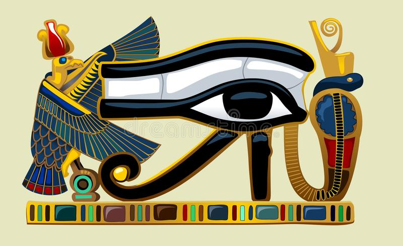 Ojo de los gráficos de Horus stock de ilustración
