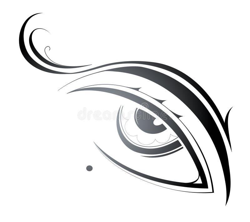 Ojo de una belleza libre illustration