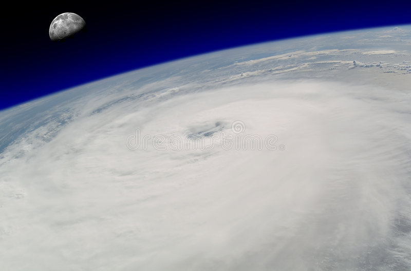 Ojo del huracán imagen de archivo libre de regalías