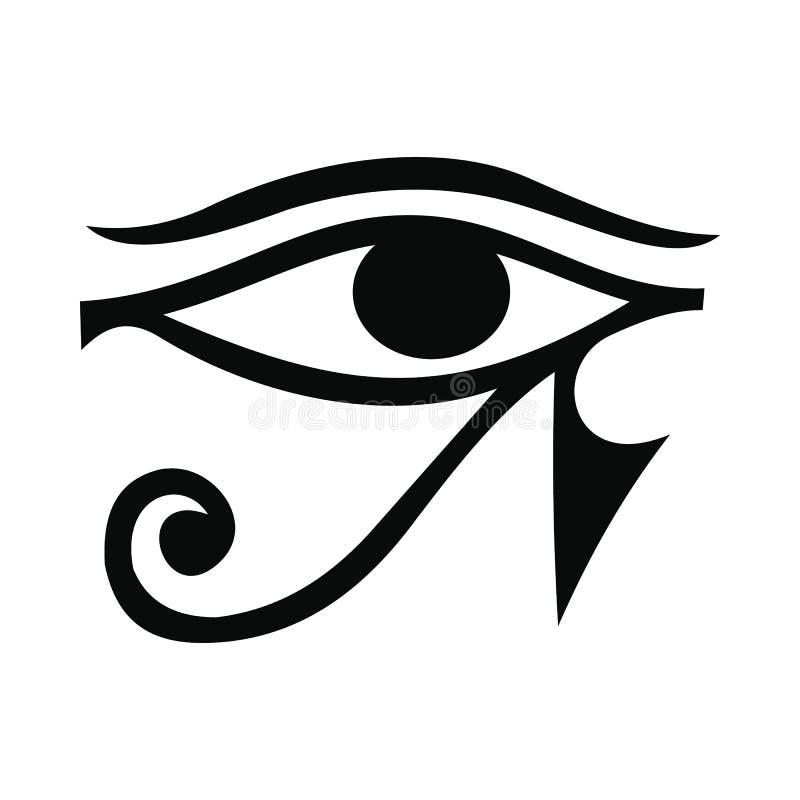 Ojo del icono de Horus, estilo simple ilustración del vector