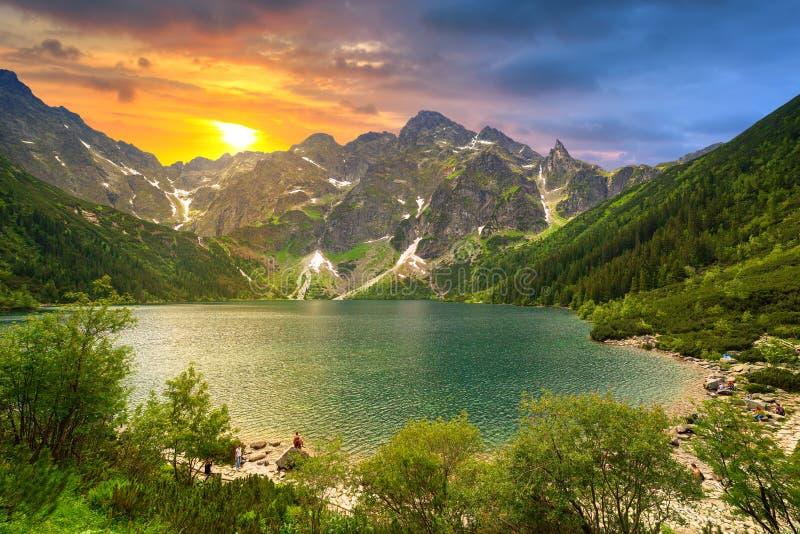 Ojo del lago sea en la puesta del sol fotos de archivo libres de regalías