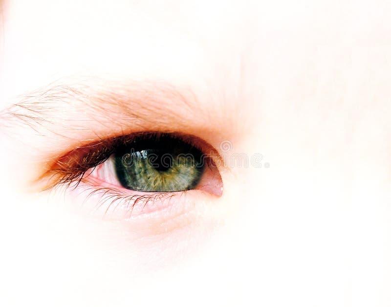Ojo del niño foto de archivo