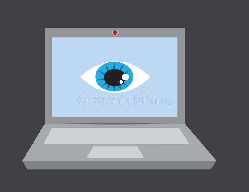 Ojo del ordenador portátil ilustración del vector