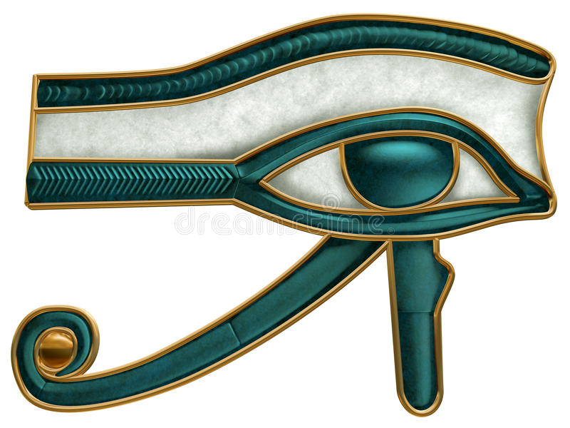 Ojo egipcio de Horus stock de ilustración