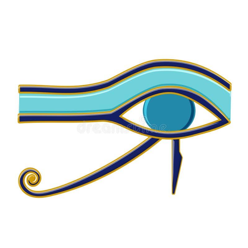 Ojo egipcio del símbolo de Horus Religión y mitos Egipto antiguo stock de ilustración