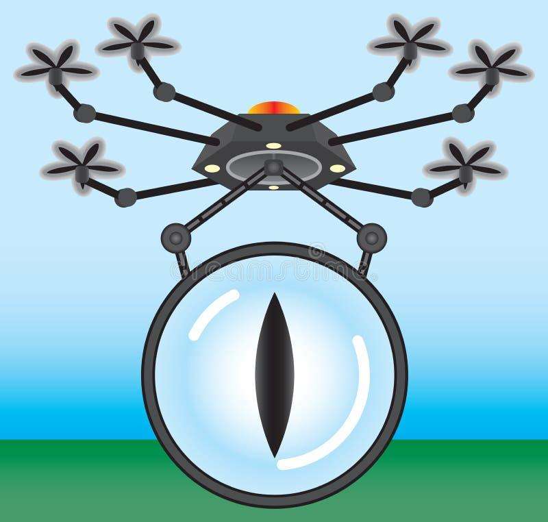 Ojo en el cielo ilustración del vector