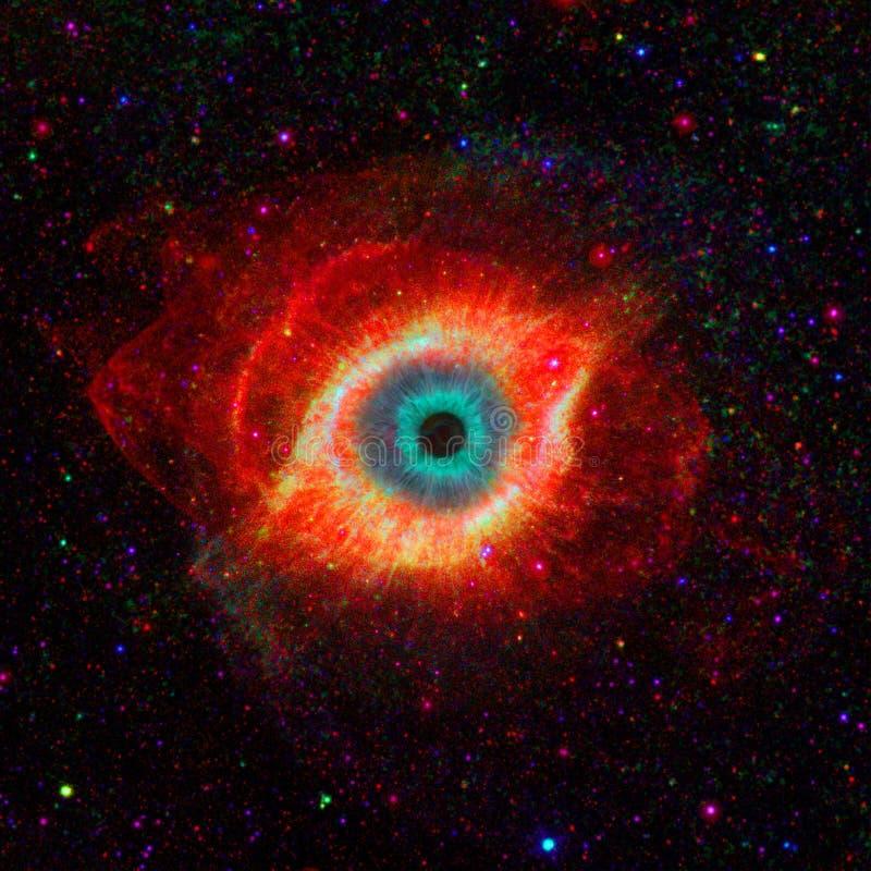 Ojo en espacio ilustración del vector
