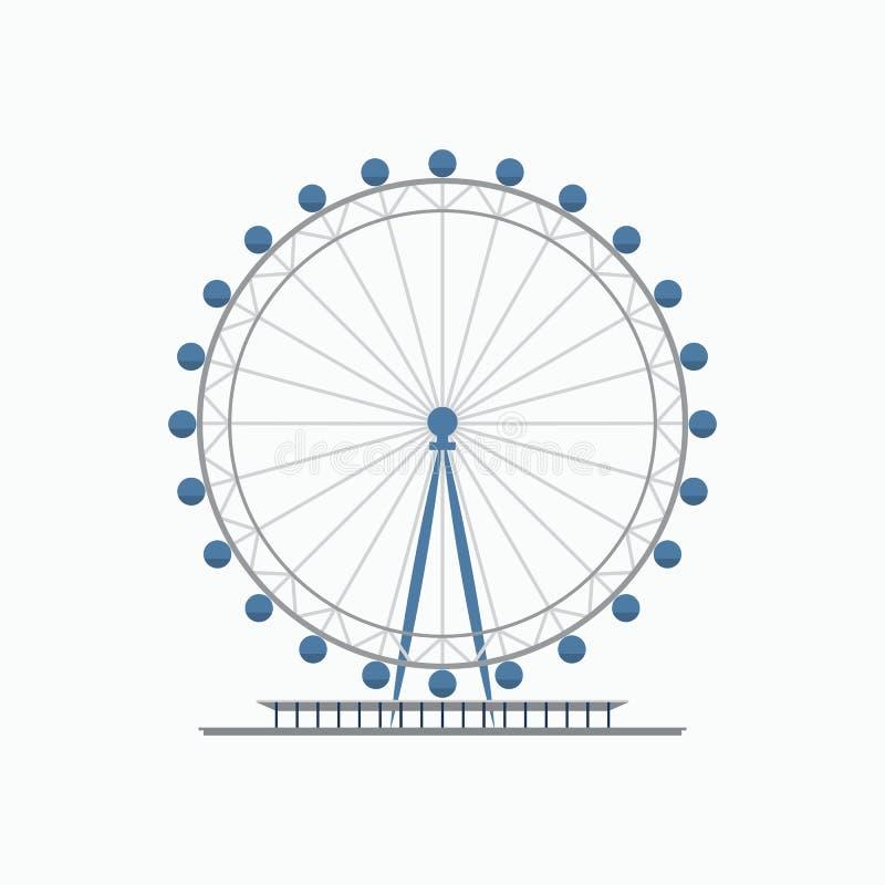 Ojo Ferris Wheel de Londres stock de ilustración