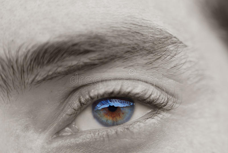 Ojo hermoso 2 del espejo foto de archivo