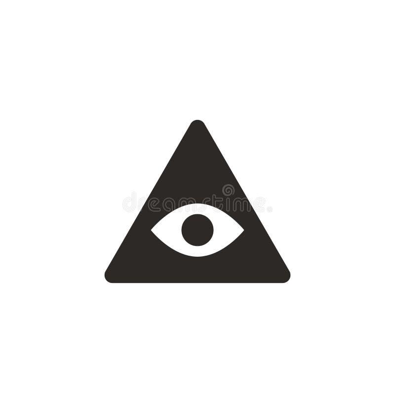 Ojo, icono de la pirámide Ejemplo simple del elemento del concepto de UI Ojo, icono de la pirámide Concepto de las finanzas stock de ilustración