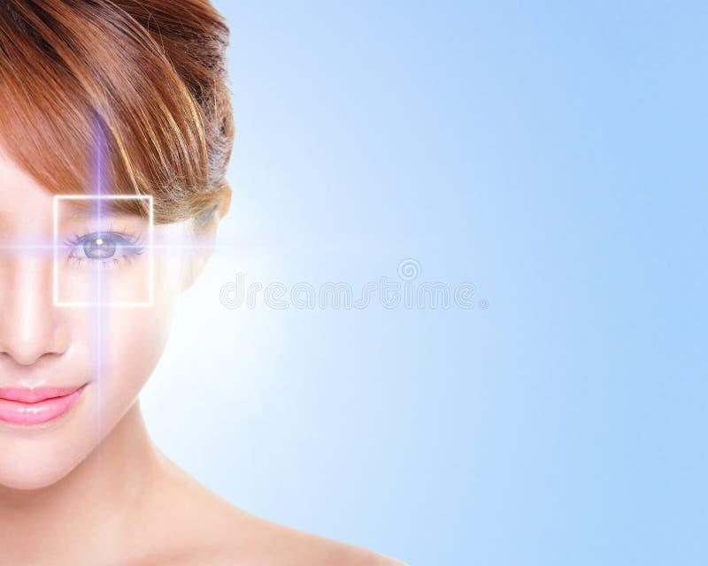 Ojo joven y hermoso de la mujer imagen de archivo libre de regalías