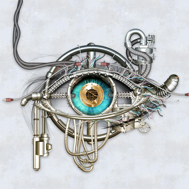 Ojo mecánico ilustración del vector