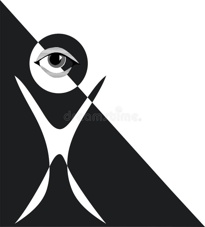 Ojo morado ilustración del vector
