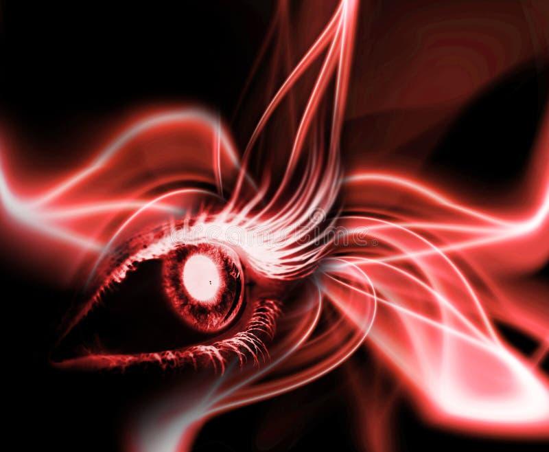 Ojo rojo imágenes de archivo libres de regalías