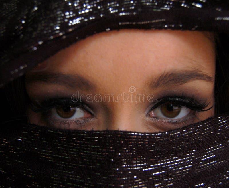 Ojos árabes foto de archivo