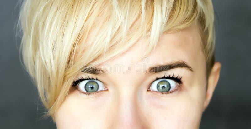 Ojos abiertos de par en par imagen de archivo libre de regalías