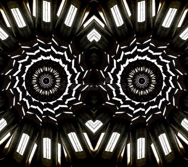 Ojos abstractos blancos y negros imagen de archivo libre de regalías