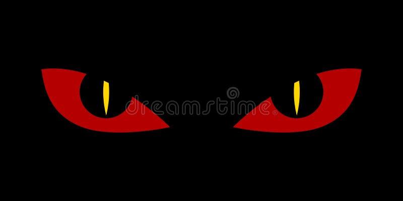 Ojos asustadizos malvados - pesadilla del diablo de la serpiente del demonio stock de ilustración