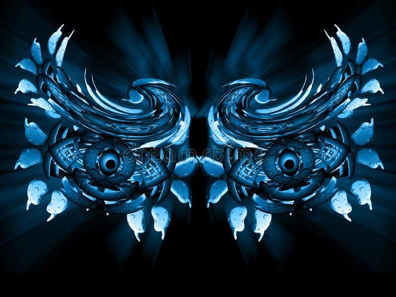 Ojos azules stock de ilustración