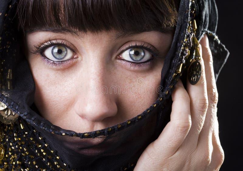 Ojos azules del este foto de archivo libre de regalías
