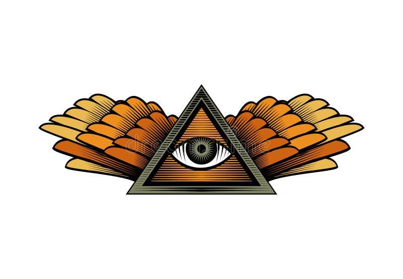 Ojos con las alas libre illustration