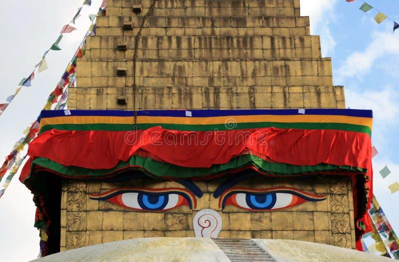 Ojos de Budha imagen de archivo
