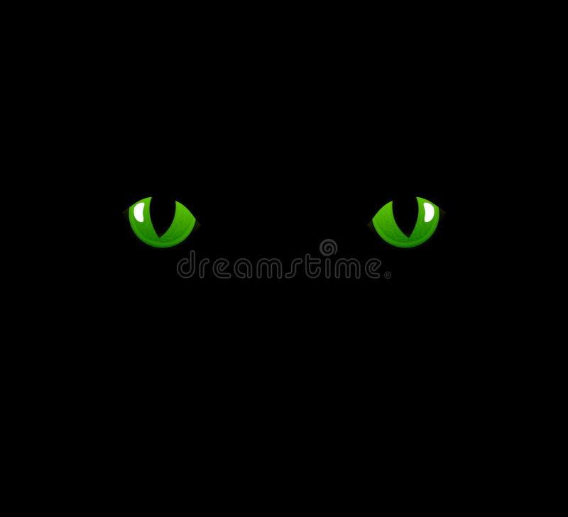 Ojos de gato ilustración del vector