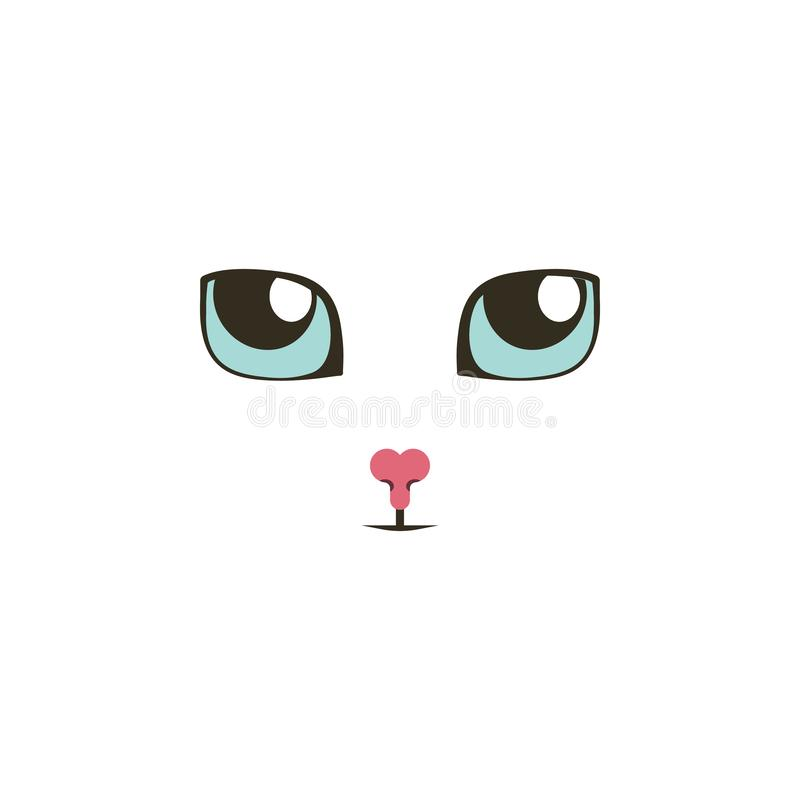 Ojos de gato dulces que miran para arriba el icono del color Elementos de los iconos coloreados multi de los ojos Icono superior  ilustración del vector