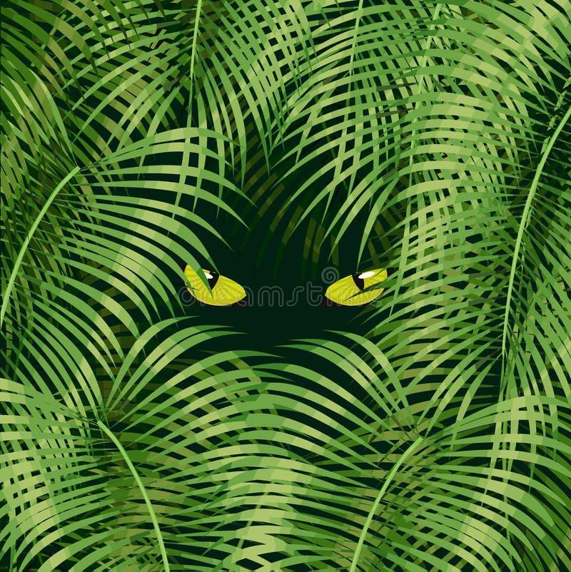 Ojos de gato salvajes ilustración del vector