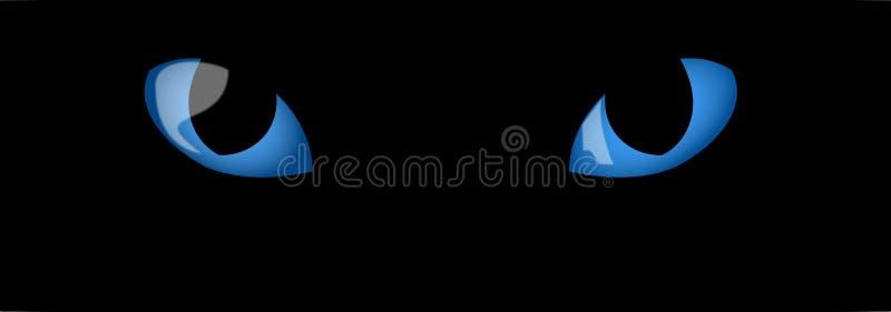 Ojos de gatos azules stock de ilustración