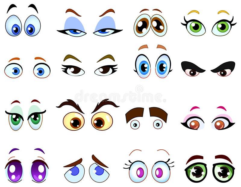 Ojos de la historieta stock de ilustración
