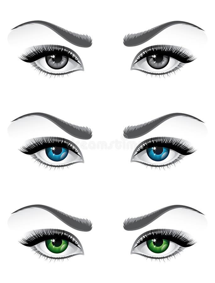 Ojos de la mujer libre illustration