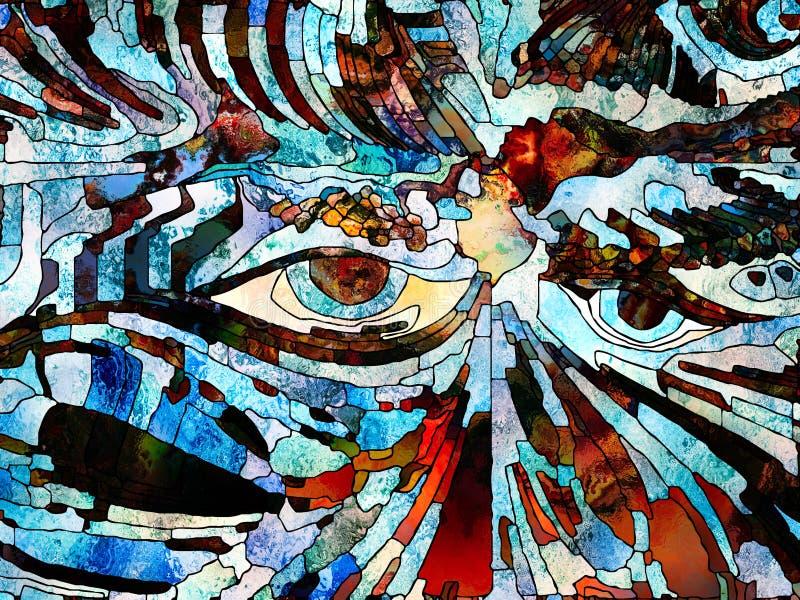 Ojos de la naturaleza ilustración del vector