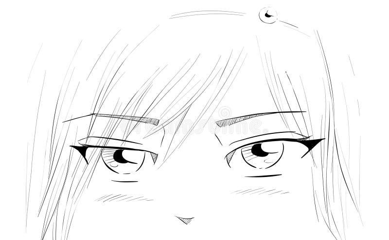 Ojos De Manga Imagen de archivo