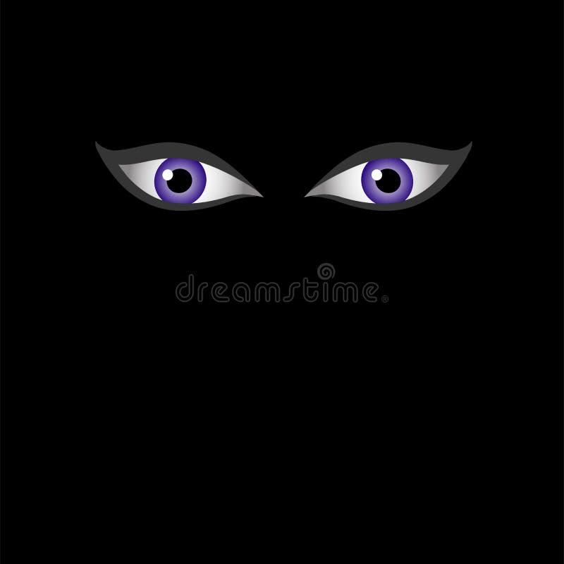Ojos de Satanás o del diablo que ve todo el ojo del illuminati ilustración del vector