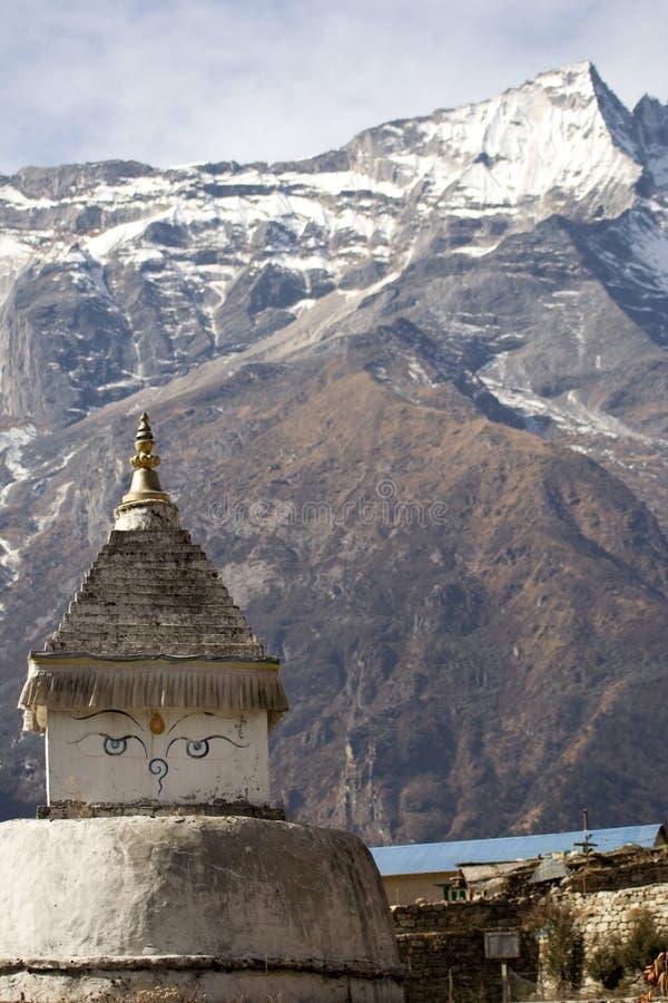 Ojos de Stupa fotos de archivo libres de regalías