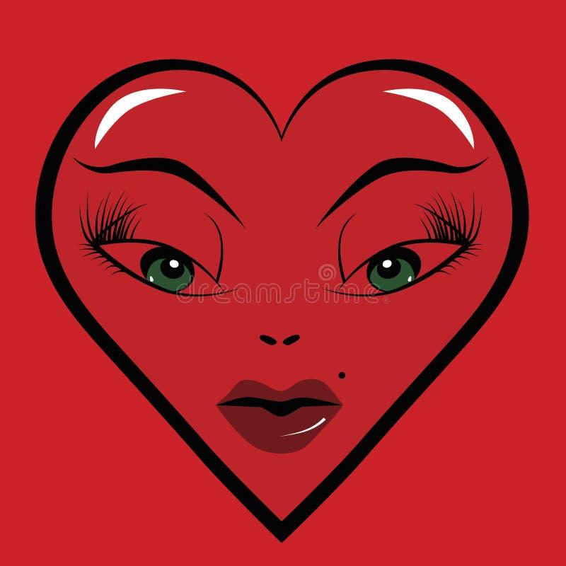 Ojos de un amor de la tarjeta del día de San Valentín imagenes de archivo