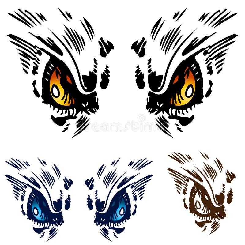 Ojos del buho stock de ilustración