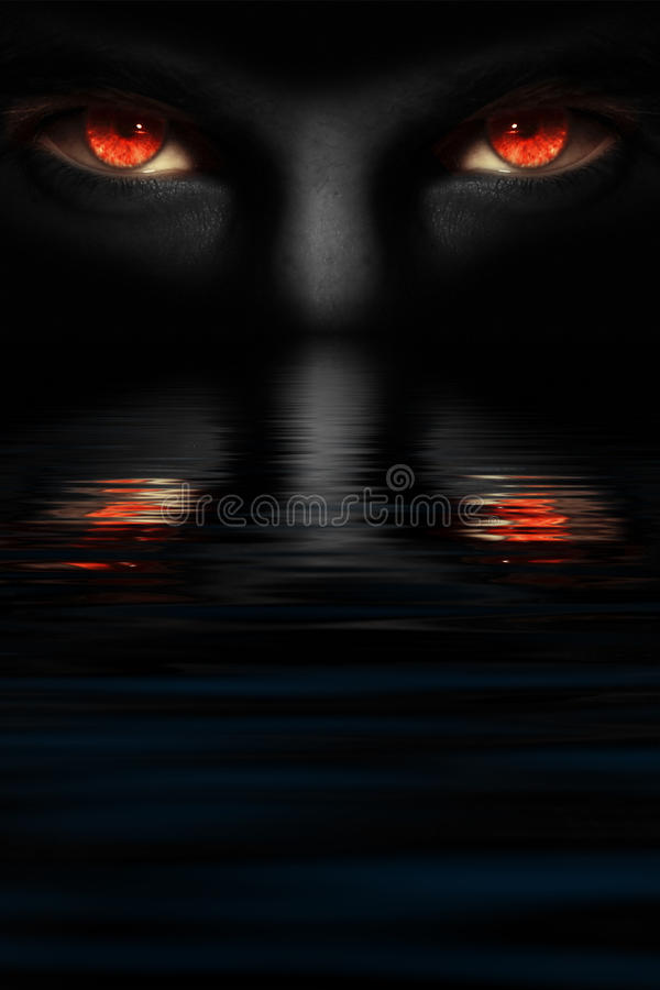 Ojos del diablo foto de archivo