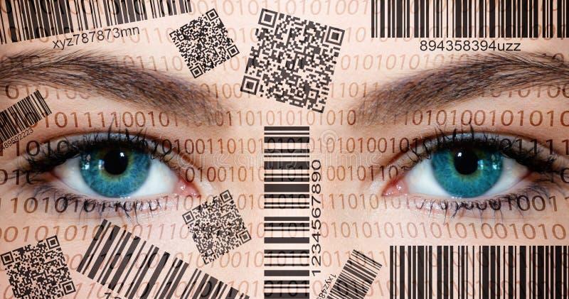 Ojos del escáner fotografía de archivo