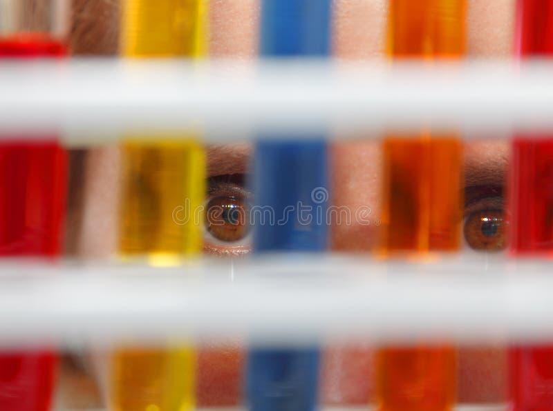 Ojos Del Investigador Imagen de archivo libre de regalías