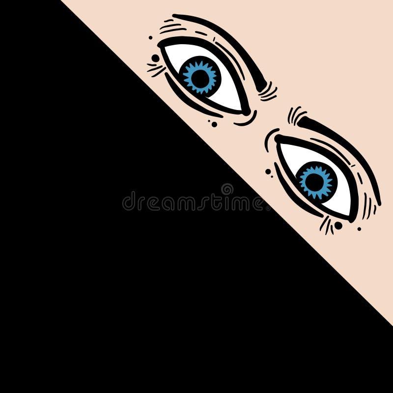 Ojos del misterio stock de ilustración