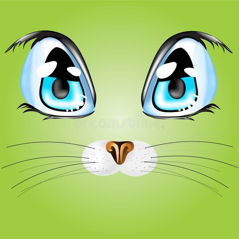 Ojos del ` s del gato fotografía de archivo
