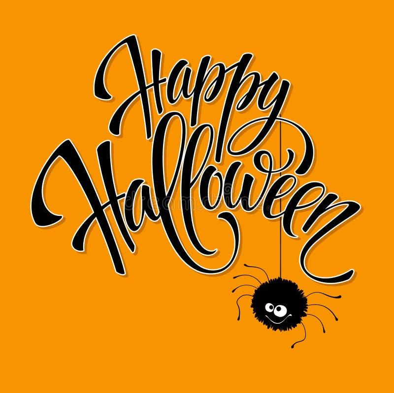 Ojos divertidos del monstruo de la tarjeta de felicitación de Halloween Vector stock de ilustración