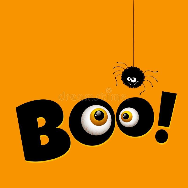 Ojos divertidos del monstruo de la tarjeta de felicitación de Halloween Vector libre illustration