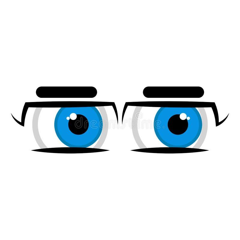 Ojos dudosos aislados ilustración del vector